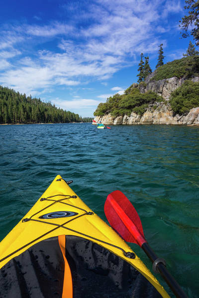 Wall Art - Photograph - Kayaking In Emerald Bay At Fannette by Russ Bishop