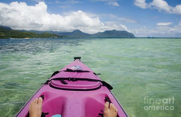 Photograph - Kayaking In Kaneohe Bay by Charmian Vistaunet