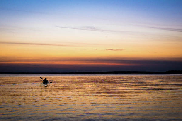 Oar Photograph - Kayaking Into The Sunset by Danielle Donders
