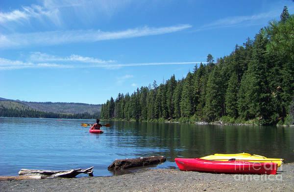Kayaking On Suttle Lake Art Print