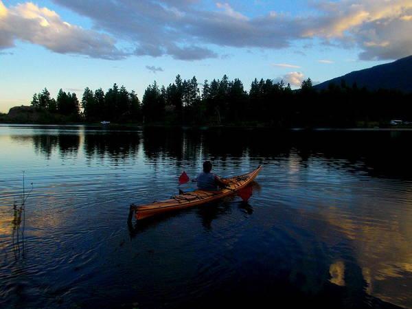 Kayaking Sunset Art Print