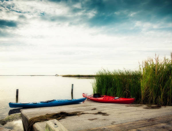 Waters Edge Photograph - Kayaks By Waters Edge by Catlane