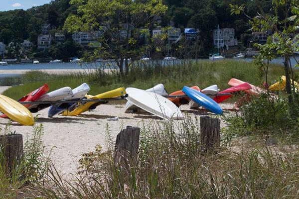 Photograph - Kayaks Centerport Beach Long Island New York by Susan Jensen