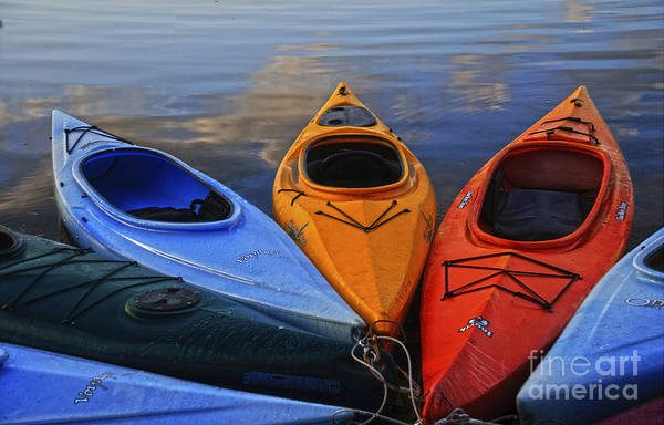Photograph - Kayaks by Debra Fedchin