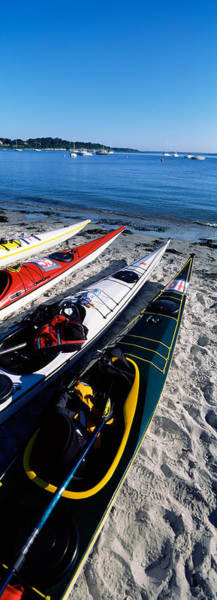 Kayaks Wall Art - Photograph - Kayaks On The Beach, Third Beach by Panoramic Images