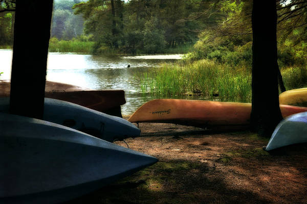 Photograph - Kayaks On The Shore by Michelle Calkins
