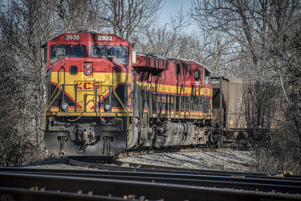 Subdivision Photograph - Kcs Coal Train At Madisonville Ky by Jim Pearson