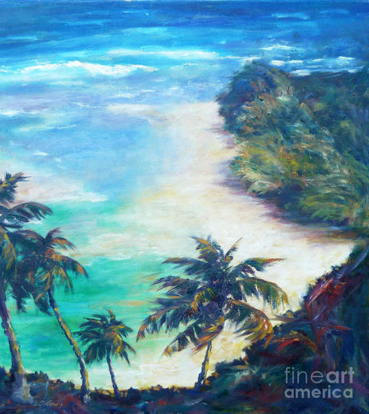 Painting - Kee Beach by Carolyn Jarvis