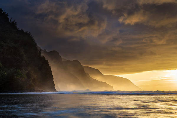 Photograph - Kee Beach Sunset Kauai by Pierre Leclerc Photography