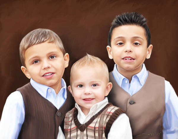 Painting - Keegan Boys by Michael Spano