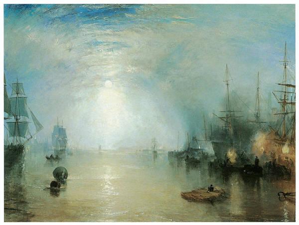 J. M. W. Turner Painting - Keelmen Heaving In Coals By Moonlight by J M W Turner