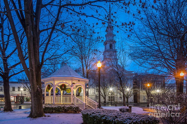 Photograph - Keene Central Square At The Holidays by Susan Cole Kelly