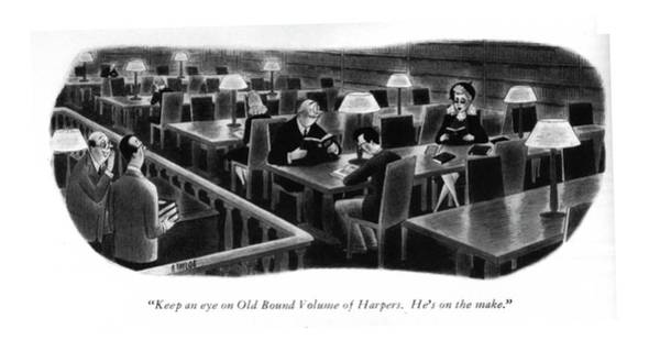 Attractive Drawing - Keep An Eye On Old Bound Volume Of Harpers. He's by Richard Taylor