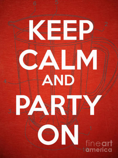 Wall Art - Photograph - Keep Calm And Party On by Edward Fielding