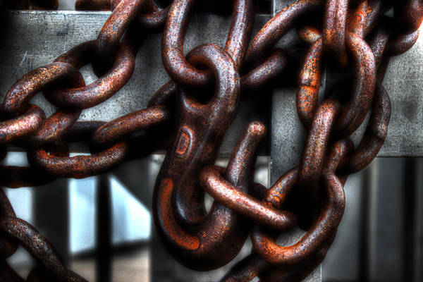 Chain Link Photograph - Keep Out by Michael Eingle