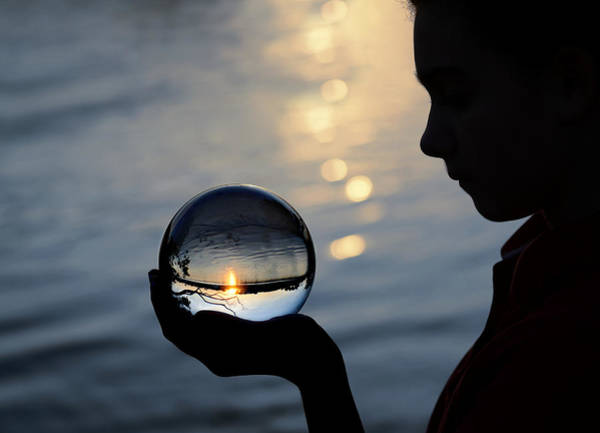 Orb Photograph - Keeper Of The Flame by Laura Fasulo