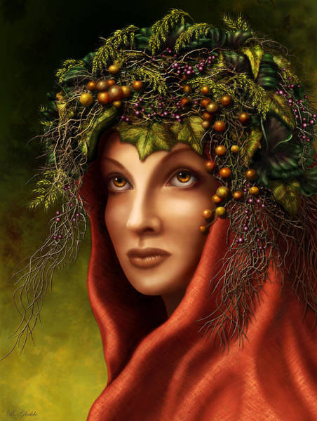 Celtic Mythology Wall Art - Painting - Keeper Of The Woods by Britta Glodde