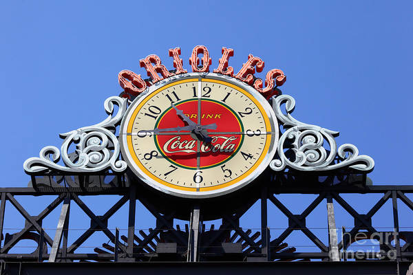 Photograph - Keeping Time At Oriole Park by James Brunker