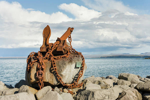 Rusty Chain Photograph - Keflavik On Reykjanes Peninsula by Martin Zwick