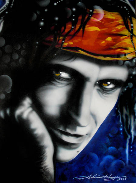 Wall Art - Painting - Keith Richards by Alicia Hayes