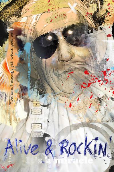 Pirates Of The Caribbean Digital Art - Keith Richards by Dray Van Beeck
