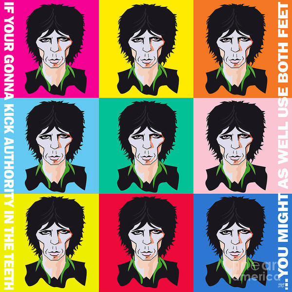 Revolting Digital Art - Keith Richards If Your Gonna by Neil Finnemore