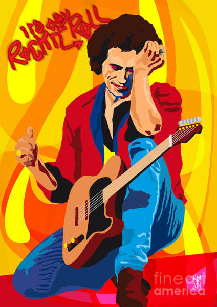 Revolting Digital Art - Keith Richards Its Only Rock N Roll by Neil Finnemore