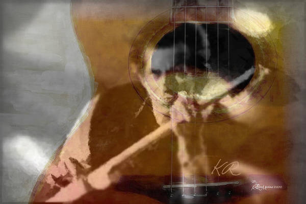 Digital Art - Keith Richards - Rolling Stones - Featured In 'comfortable Art' Group by Ericamaxine Price
