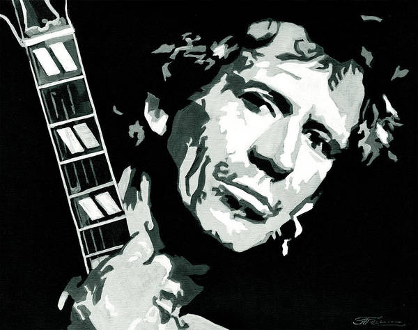 Painting - Keith Richards The Rock Star by Tanya Filichkin