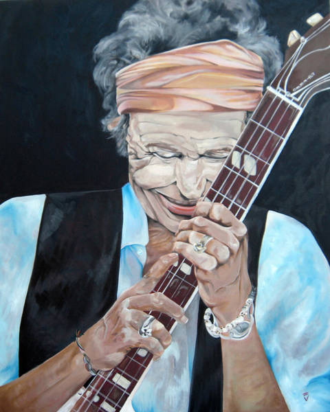 Wall Art - Painting - Keith Richards by Victoria Dietz
