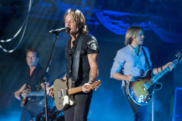 Summerfest Photograph - Keith Urban 2 by Mike Burgquist