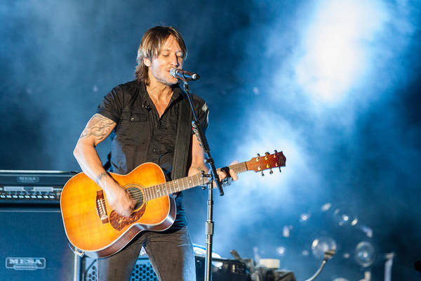 Summerfest Photograph - Keith Urban Concert by Mike Burgquist