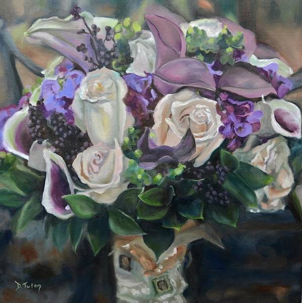 Wall Art - Painting - Kelly's Bridal Bouquet by Donna Tuten