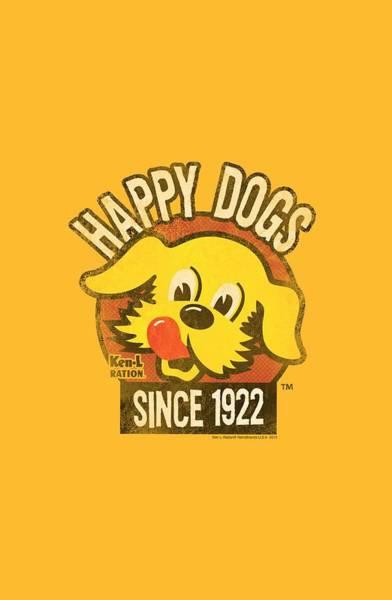 L Digital Art - Ken L Ration - Happy Dogs by Brand A