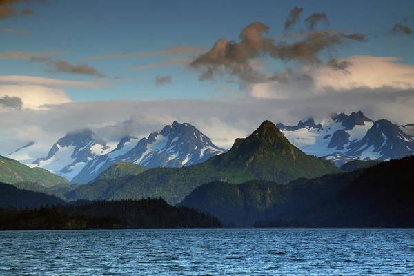 Wall Art - Photograph - Kenai Mountains And Kachemak Bay by Michel Hersen