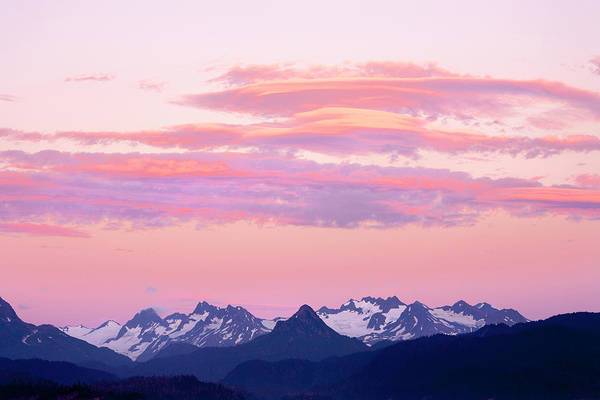 Ecosystem Photograph - Kenai Mountains At Sunrise by Tom Norring