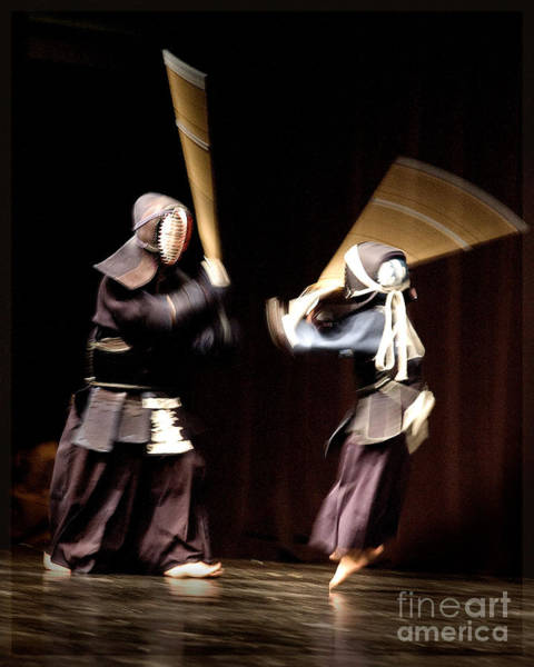 Photograph - Kendo Attack by Michael Arend