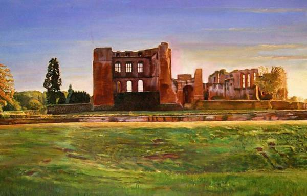 Warwickshire Photograph - Kenilworth Castle Grandeur, 2008 Oil On Canvas by Kevin Parrish