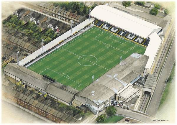 Wall Art - Painting - Kenilworth Road - Luton Town by Kevin Fletcher