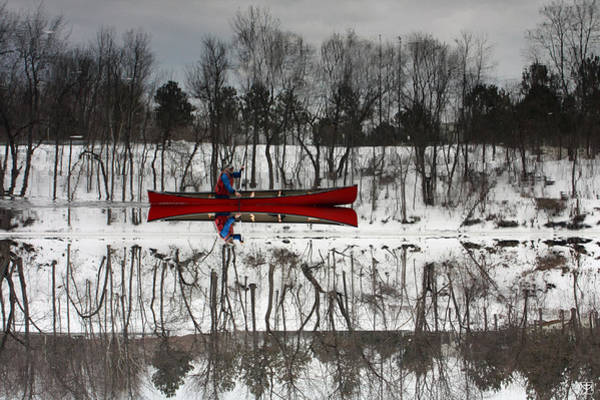 Photograph - Kennebec Reflection by John Meader