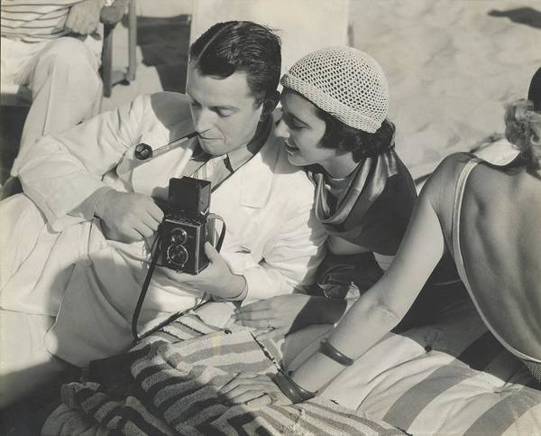 Towel Photograph - Kenneth Mackenna And Kay Francis With A Camera by Edward Steichen