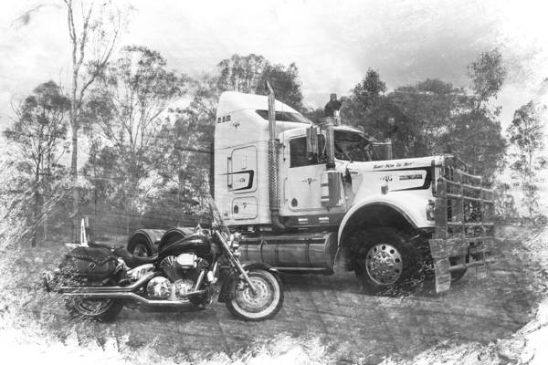 Kenworth Photograph - Kenny And The Shadow by Keith Hawley