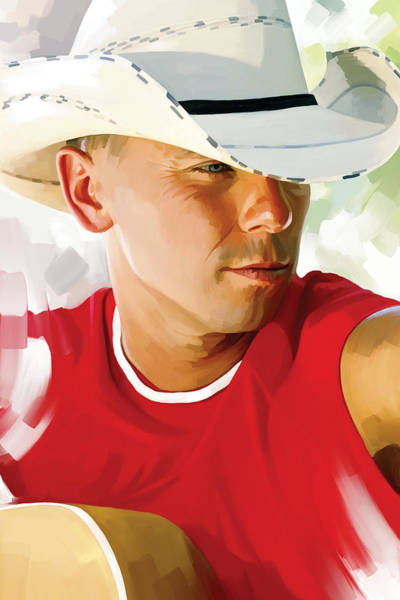 Wall Art - Painting - Kenny Chesney Artwork 1 by Sheraz A