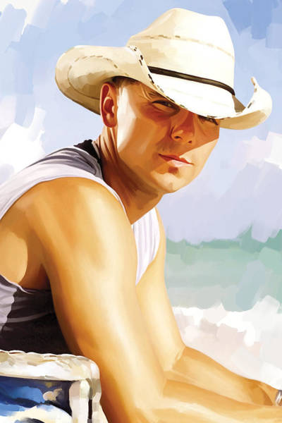 Wall Art - Painting - Kenny Chesney Artwork 2 by Sheraz A