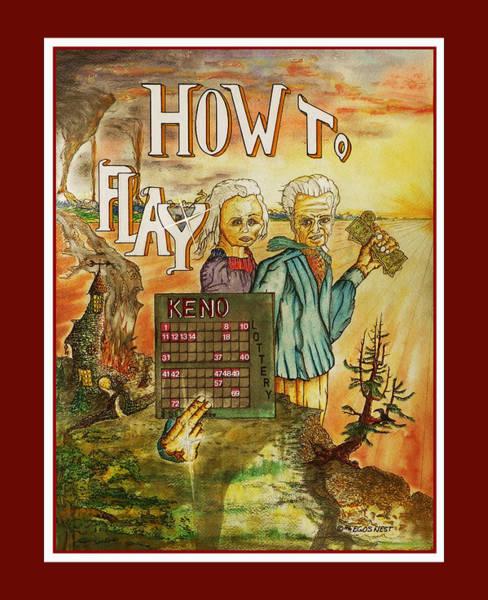 Keno Gambling Small Bet Big Win Art Print