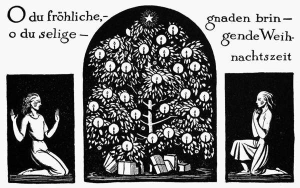 Christmas Tree Drawing - Kent Christmas, 1924 by Granger