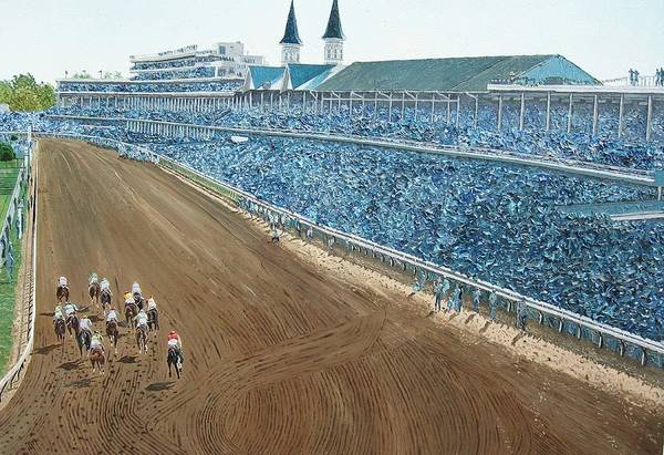 Wall Art - Painting - Kentucky Derby - Horse Race by Mike Rabe