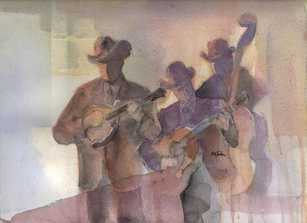 Jam Painting - Kentucky Mandolin by Robert Yonke
