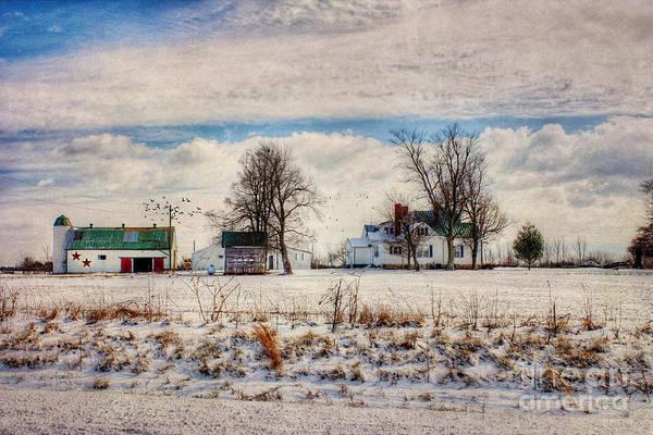 Farmstead Photograph - Kentucky Snow Day by Darren Fisher