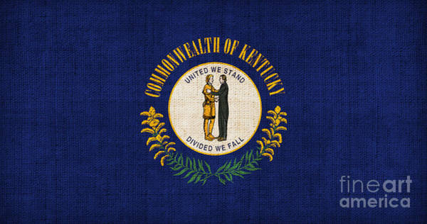 1776 Painting - Kentucky State Flag by Pixel Chimp